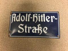 Original Adolf Hitler Strasse sign