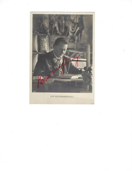 Hermann Goering signed photo