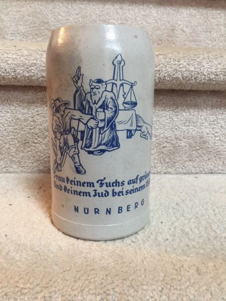 Julius Streicher Der Sturmer anti Semitic beer stein