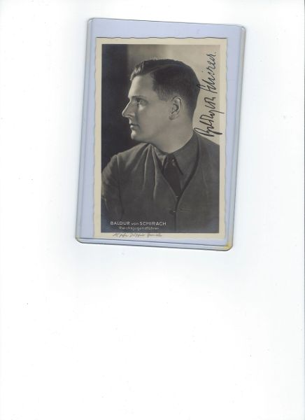 Baldur von Schirach signed photo
