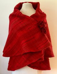 CAPE. Handwoven Wool Cape 038