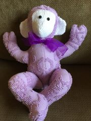 Vintage Chenille Monkey 001