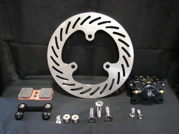 Titanium Sprint Car Left Front Rotor Brake Kit with WILWOOD Calipers