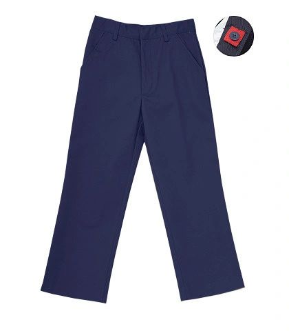 Flat Front Double Knee Boys Pant