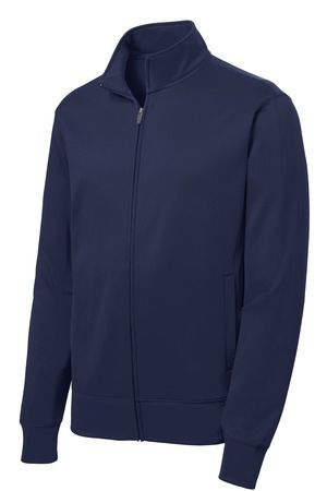 Hoodless Full Zip Sweatshirt Fleece Jacket