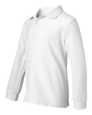 Boys & Girls Pique Polo Long Sleeve