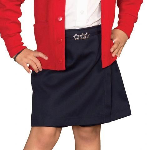 Girls Skort with Flower buckle