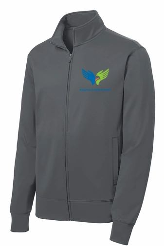 RCA Sport Wick Performance Embroidered Fleece Jacket - Grey