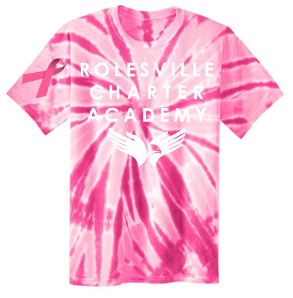 RCA Breast Cancer Awareness Spirit Tie Dye Tee