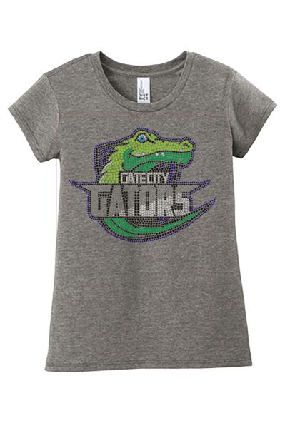 Gate City Rhinestone Tee - Girls and Ladies