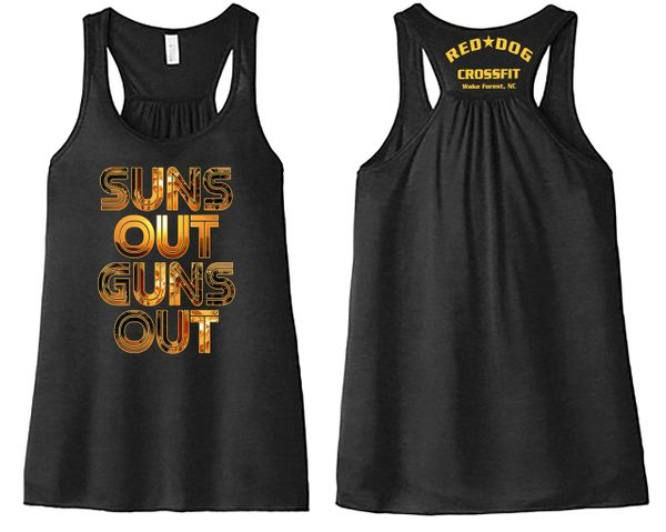 Sun's Out Gun's Out Flowy Ladie's Tank
