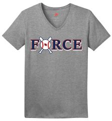 Force Ladies Cotton V Neck