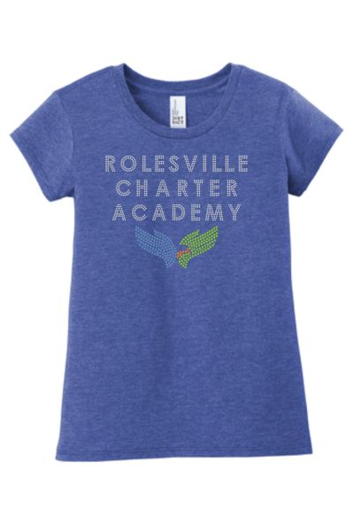 RCA Girl's/Ladies tee with Rhinestone Logo