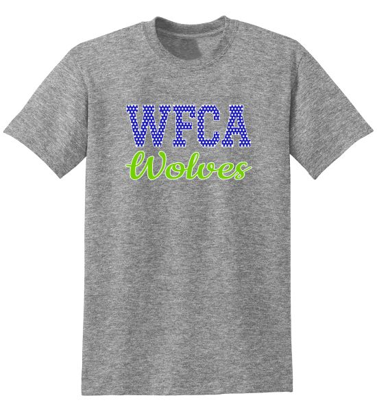 WFCA 2019 Cheerleading Tee - Choice of design color.
