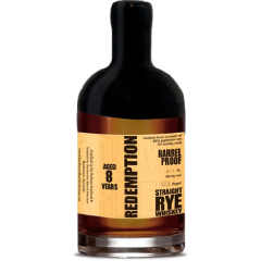 Redemption 8 Year Old Barrel Proof Straight Rye Whiskey