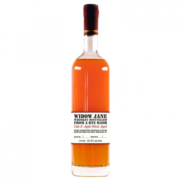 Widow Jane Oak and Apple Wood Aged Distilled from a Rye Mash Whiskey