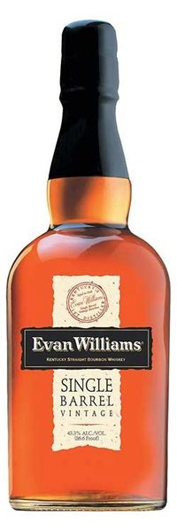 Evan Williams Single Barrel Vintage Bourbon Whiskey