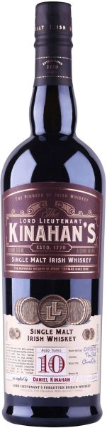 Kinahan's 10 Year Single Malt Irish Whiskey