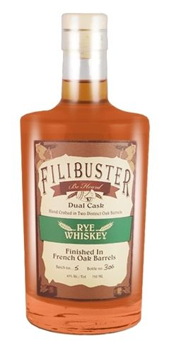 Filibuster Rye Duel Cask Whiskey