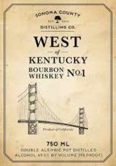 Sonoma County Distilling West Of Kentucky Bourbon Whiskey No. 1