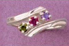 (3) 3mm Round Sterling Silver ByPass Style Pre-Notched Ring Setting Size 6-8