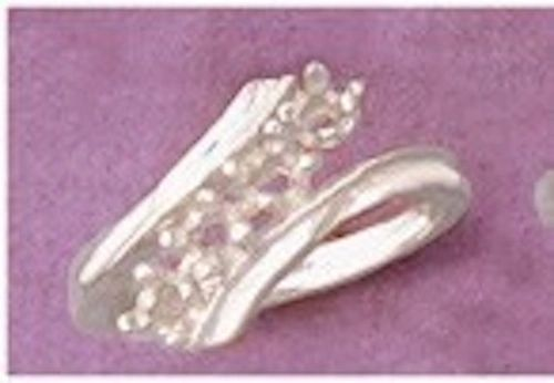 (4) 3mm Round Sterling Silver ByPass Style Pre-Notched Ring Setting Size 6-8