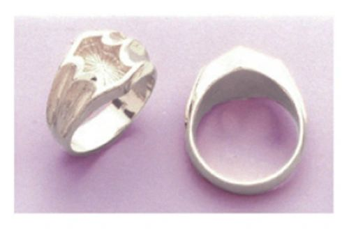 Sterling Silver Men's Blank Ring Shank Size 8-14