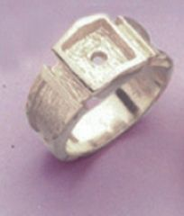 Sterling Silver Men's Brushed Style Blank Ring Shank Size 8-14