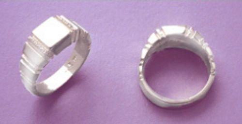 Sterling Silver Men's Fancy Style Blank Ring Shank Size 7-12