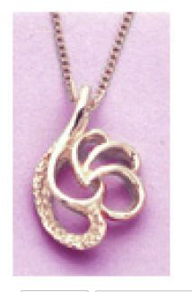 14kt Gold or Sterling Silver Fancy Style Pendant Setting