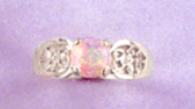 6-10mm Round Cabochon Sterling Silver Filigree Style Pre-Notched Ring Setting Size 5-9