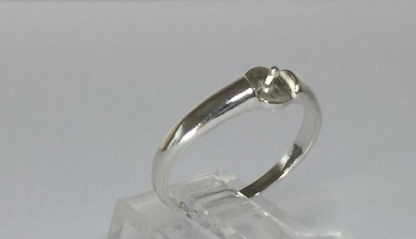 4-8mm Pearl Sterling Silver Pre-Notched Ring Setting Size 3-10