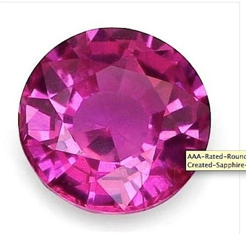 ROUND BRIGHT PINK LAB CREATED SAPPHIRE #3 (1mm to 16mm)