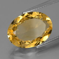 OVAL FACETED AAA BRIGHT GOLDEN (NATURAL) CITRINE (5x3-16x12mm)