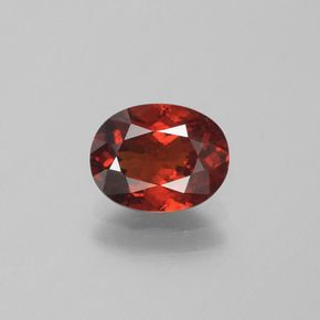 OVAL FACETED AAA BRIGHT ORANGE RED (NATURAL) GARNET (5x3-10x8mm)