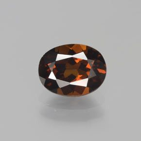 OVAL FACETED AAA BRIGHT ORANGE RED (NATURAL) MOZAMBIQUE GARNET (4x3-8x6mm)