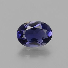 OVAL FACETED AAA BRIGHT BLUE (NATURAL) IOLITE (4x3mm to 9x7mm)