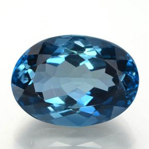 OVAL FACETED AAA BRIGHT (NATURAL) LONDON BLUE TOPAZ (6x4-12x10mm)