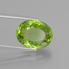 OVAL FACETED AAA BRIGHT (NATURAL) APPLE GREEN PERIDOT (5x3-10X8mm)