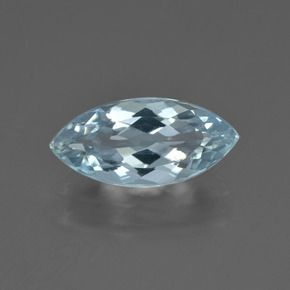 MARQUISE FACETED AAA BRIGHT BLUE GREEN (NATURAL) AQUAMARINE