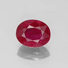 AA RATED OVAL FACETED BRIGHT RED (NATURAL) PRECIOUS RUBY (5x3 - 7x5mm)