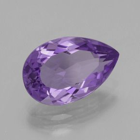 PEAR FACETED AAA BRIGHT PURPLE (NATURAL) AMETHYST (5x3-15x10mm)