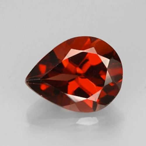 PEAR FACETED AAA BRIGHT ORANGE RED (NATURAL) GARNET (5x3-12x8mm)