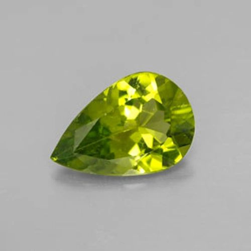 PEAR FACETED AAA BRIGHT (NATURAL) APPLE GREEN PERIDOT (6x4-10x7mm)
