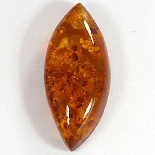 AAA Rated Marquise Cabochon Genuine (Natural) Rich Golden Baltic Amber (8x4mm-10x5mm)