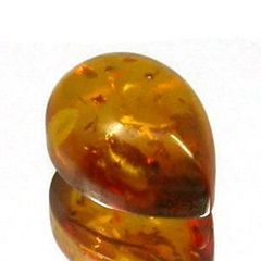AAA Rated Pear Cabochon Genuine (Natural) Rich Golden Baltic Amber (6x4mm-15x10mm)