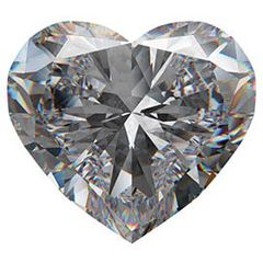 Heart Brilliant Faceted Genuine Moissanite Created by Charles & Colvard (4x4-8x8mm)