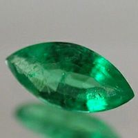 MARQUISE FACETED GEORGOUS GREEN GENUINE (NATURAL) EMERALD