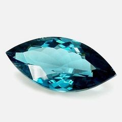 Masterpiece Collection: (1) AAA Rated Marquise Faceted Genuine London Blue Topaz (6x3mm to 12x6mm)