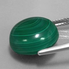 Masterpiece Collection: (1) AAA Rated Round Cabochon Genuine Malachite (3mm-16mm)